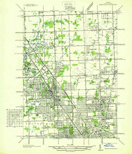 Yellowmaps Birmingham Mi Topo Map  1 31680 Scale  7 5 X 7 5 Minute  Historical  1936  20 9 X 18 In   Paper