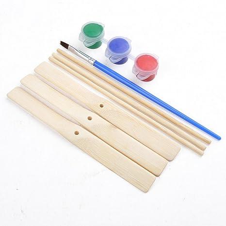 eliche bambù libellula da te di fai 3 giocattolo Fokom Set di kPiuOTXZ