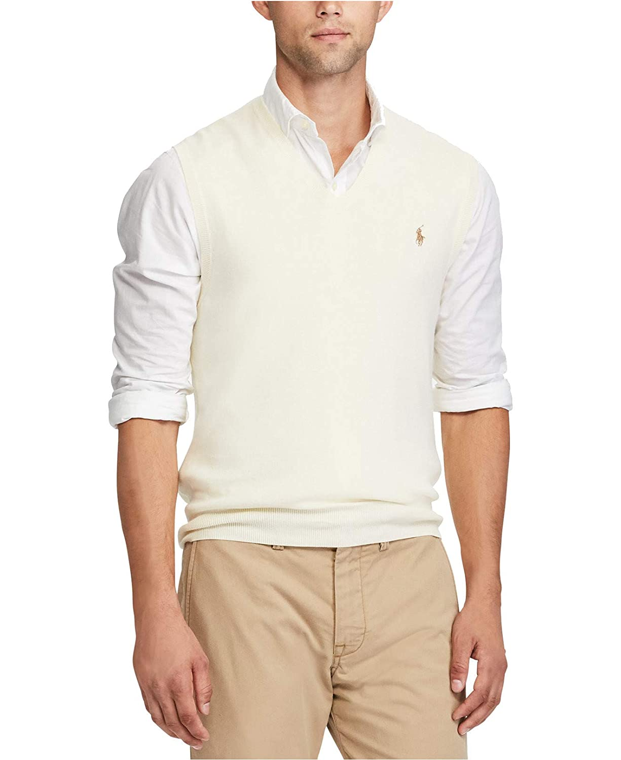 Cotton Polo Ribbed Trim Mens Ralph Lauren Cr Crescent rdQtsh
