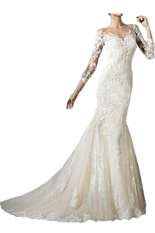 (ウィーン ブライド) Vienna Bride ウェディングドレス 花嫁ドレス ドレス トレーン ブライダル レディース マーメイドベルトVネックファスナー背中開きV型 B071475BTV 17|ホワイトK ホワイトK 17