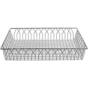 HUBERT Wire Display Basket Pastry Tray Bakery Basket Rectangular Nickel Powder-Coated Steel - 24