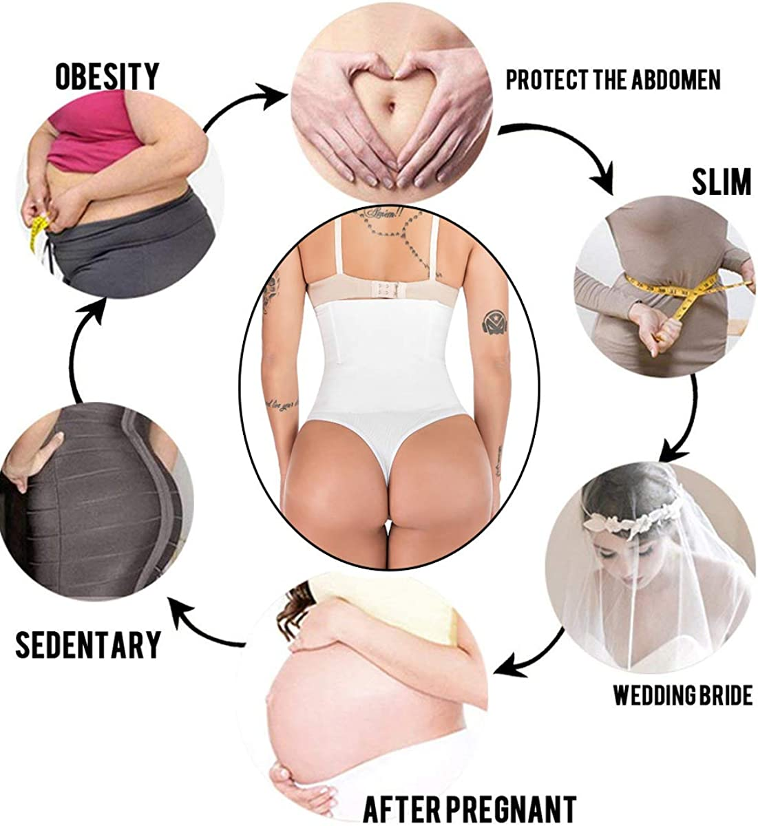 FUT Women Butt Lifter Body Shaper High Waist Tummy Control Shapewear Underwear