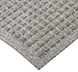 M+A Matting 250 WaterHog Drainable Polypropylene Entrance Outdoor Floor Mat, 3' Length x 2' Width, Medium Grey