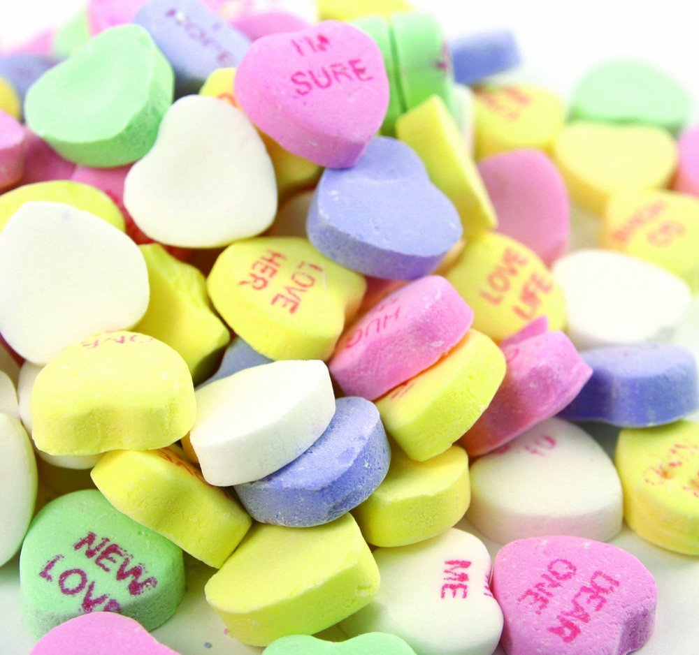 Amazon.com : Classic Conversation Hearts   2 Lbs. : Hard Candy : Grocery U0026  Gourmet Food