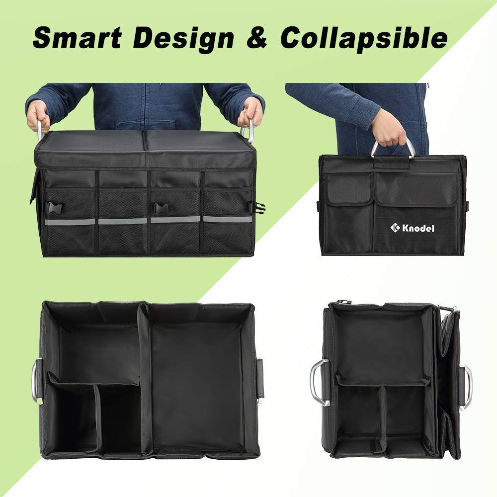 hochstandfestem Faltbeh/älter XL Knodel Robuster Kofferraumtasche mit klappbarem Deckel wasserdicht tragbarem multifunktionellem Lagerplatz und Gep/äckgestell