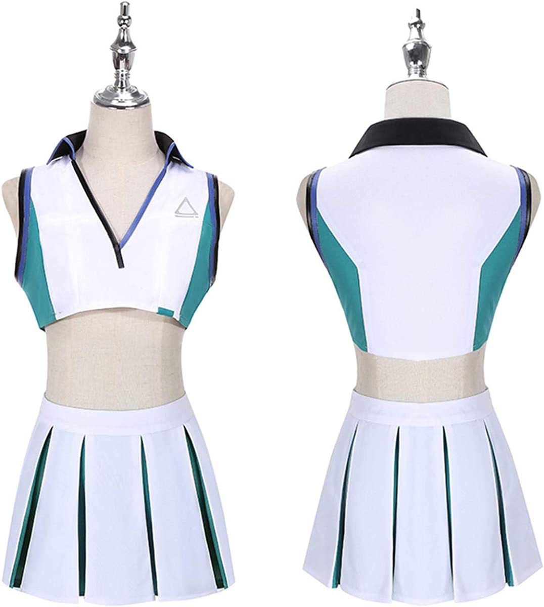 Amazon.com: MIAOCOS Bremerton Dress Cosplay Azur Lane Costume SSN 698 USS Women Summer Outfit with Necklace Wristbands: Clothing