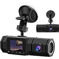 2021 Upgraded Dual Dash Cam, FHD 1080P Front and Interior Dual Dash Cameras IR Night Vision Dashcam for Car/ Taxi Loop…