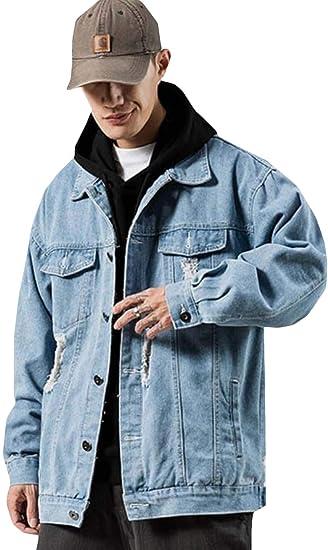 [MLboss]デニムジャケット メンズ ジージャン ダメージ オシャレ Gジャン カジュアル 大きいサイズ ジャンパー デニム カジュアル アウター 春 秋 ファッション ジャケット