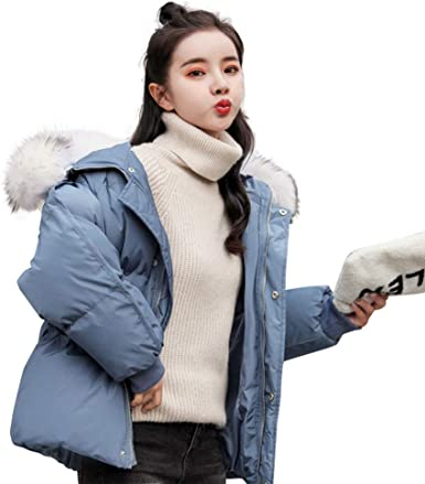 Qifengshop Chaqueta Corta de algodón de Moda para Mujer Nueva Ropa de Invierno Abrigo Corto de algodón Grueso Abrigo de Chaqueta de Moda Chaqueta con Capucha Marea Ropa de Mujer: Amazon.es: Ropa