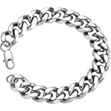 18k Real Gold Plated Curb Cuban Chain Bracelet Stainless Steel Link Bracelet for Men