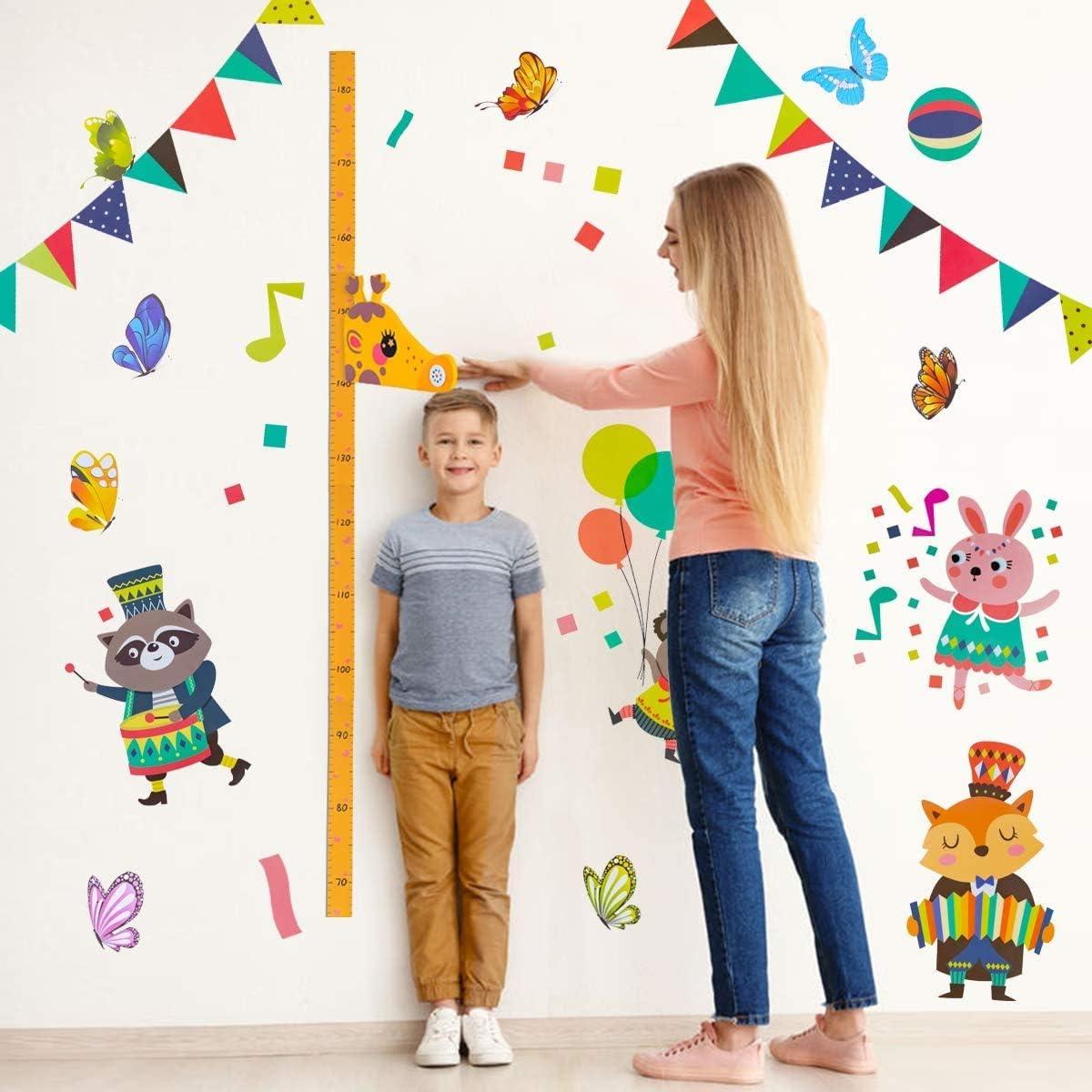 Lorcoo Tabla de Crecimiento Infantil Medidor de Altura para Ni/ños 3D Jirafa Regla de Altura para ni/ños con Decoraci/ón de la Pared