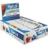 Apple + Blueberries That's It. Fruit Bars | 100% Natural Great Tasting Healthy Real Fruit Bar | Vegan, Gluten Free, Paleo, Kosher, Non GMO, 100 Calories, No Preservatives, No Added Sugar | Pack of 12