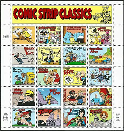 Comic Strip Classics Collectible Stamp Sheet of 20 32 Stamps Scott 3000 (Strip Stamp)