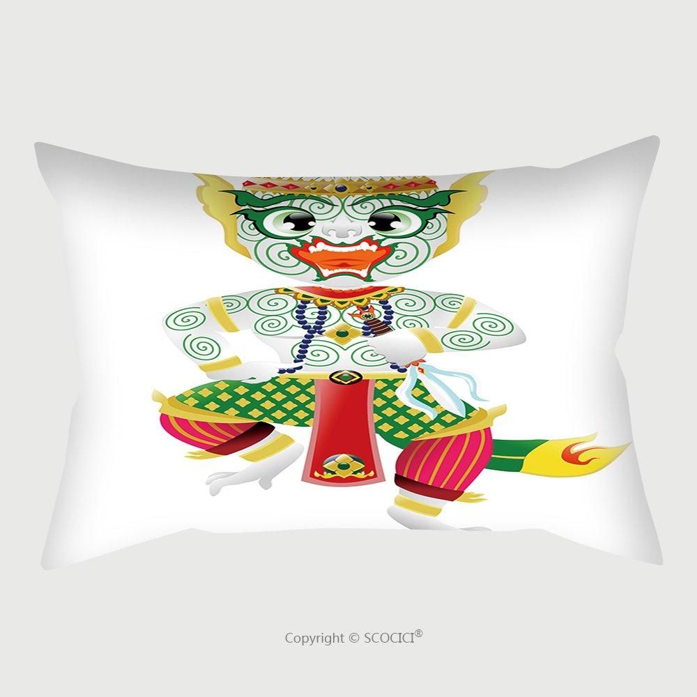 Custom Satin Pillowcase Protector Hanuman Monkey In Thai Style 274012019 Pillow Case Covers Decorative