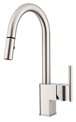 Danze D454442SS Como Trim Line Single Handle Pull-Down Kitchen Faucet