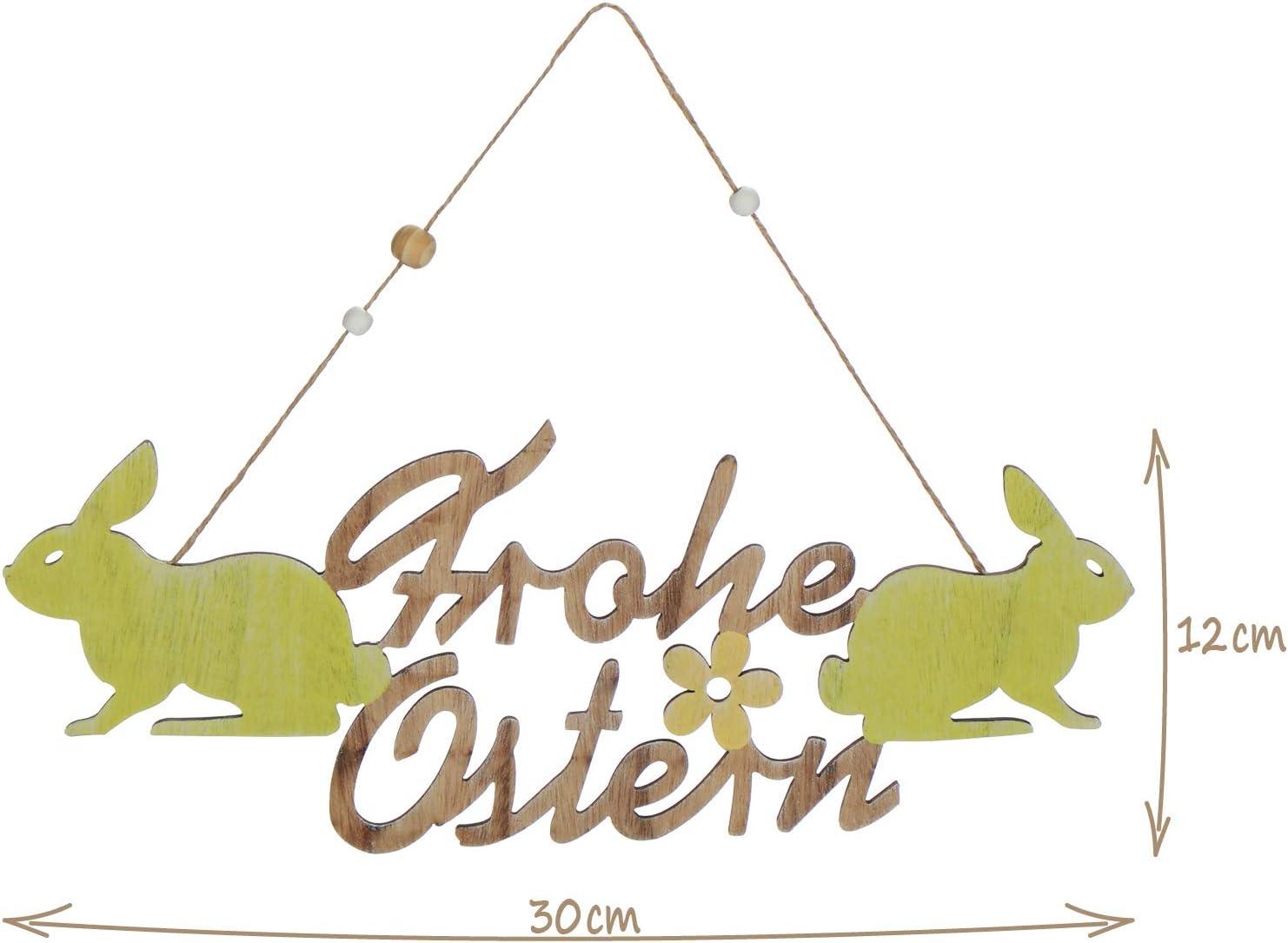 """Holz Schriftzug /""""Ostern/"""" mit Hase 29,5  x 13 cm Landhaus Deko Frühling Geschenk"""