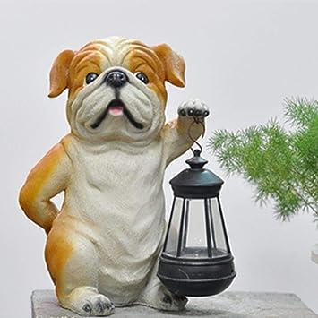 Figura Decorativa para jardín Simulación Del Perrito De Energía Solar De Luces Al Aire Libre De