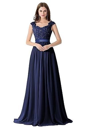 new style 087dd 14eea MisShow Damen Hochwertig Spitze Abiballkleider Brautjungfernkleider  Abendkleid Lang 2018