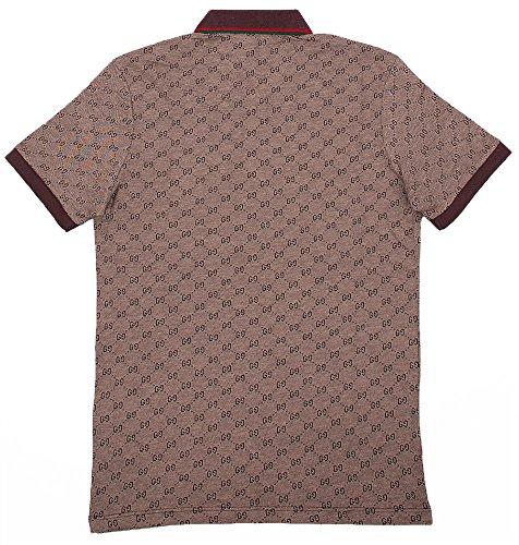 Gucci Polo Shirt, Mens Brown Short Sleeve Polo T- Shirt GG Print All Sizes (XL) by Gucci (Image #3)