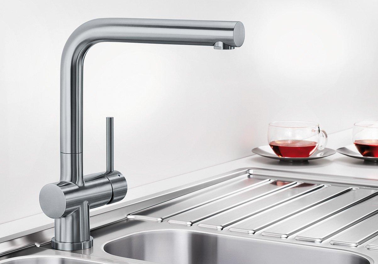 Blanco 519725 LOMIS-S Küchenarmatur, Edelstahl Gebürstet: Amazon ...
