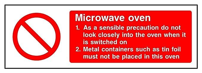 Adhesivo de vinilo autoadhesivo para horno microondas HSE Health ...