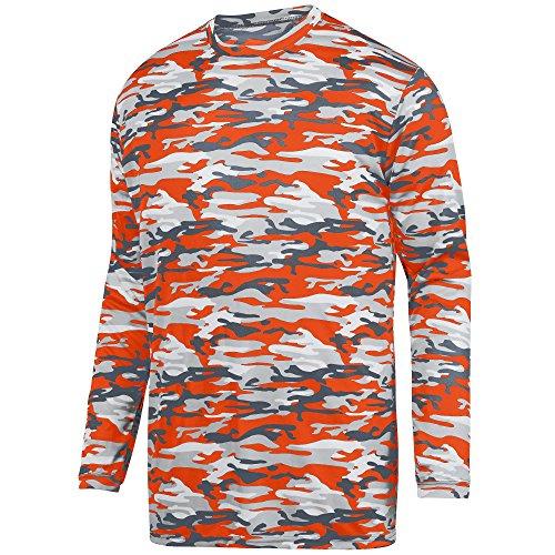 - Augusta Sportswear Men's Mod Camo Long Sleeve Wicking Tee L Orange Mod