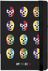 By Mexico Libreta Rayada Máscaras de Luchador Colores 80 hojas