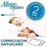 Allergosystem Set 2 Pezzi Copricuscino Antiacaro Nuvola, 50x80cm, Polyester