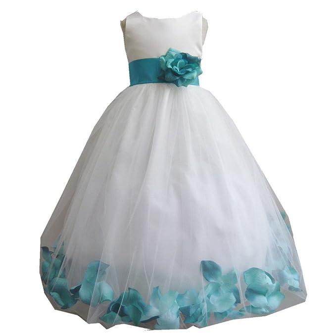 GenialES Vestido de Fiesta Boda para Niñas Larga Hasta Tobillos Linda Dulce Bonito Cute Wedding Party Dress 4 a 15 años: Amazon.es: Ropa y accesorios