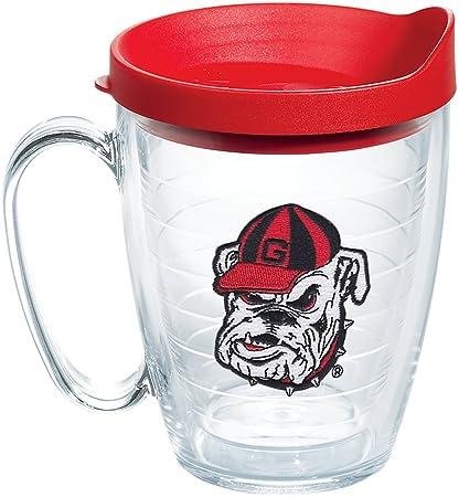 9ea9c820644 Tervis 1087761 Georgia Bulldogs Bulldog Head Uga Tumbler with Emblem and  Red Lid 16oz Mug