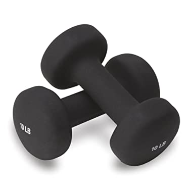 Valeo Neoprene Hand Weights for Fitness Training, Includes Exercise Wall Chart