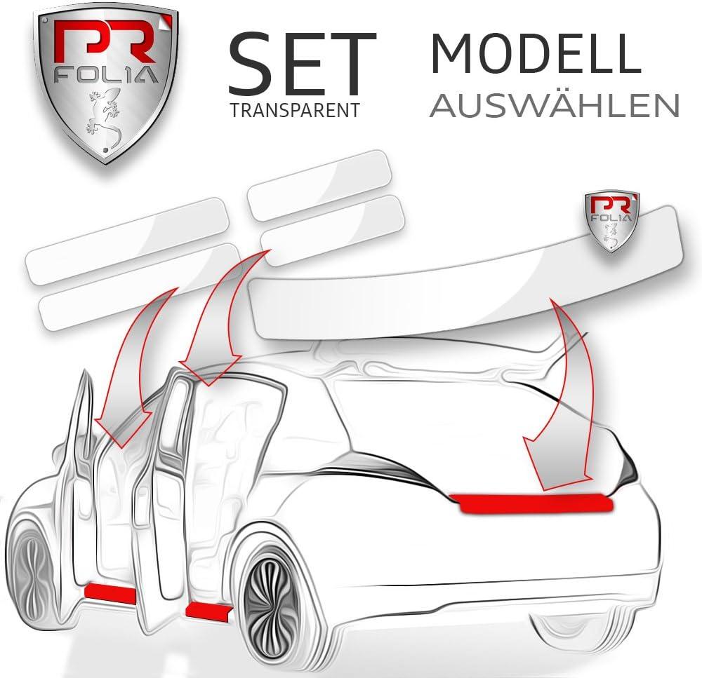 PR-Folia SET passend f/ür Einstiegsleisten in TRANSPARENT Ladekantenschutz Edge ab Bj. 2017 Lack-Schutz-Folie