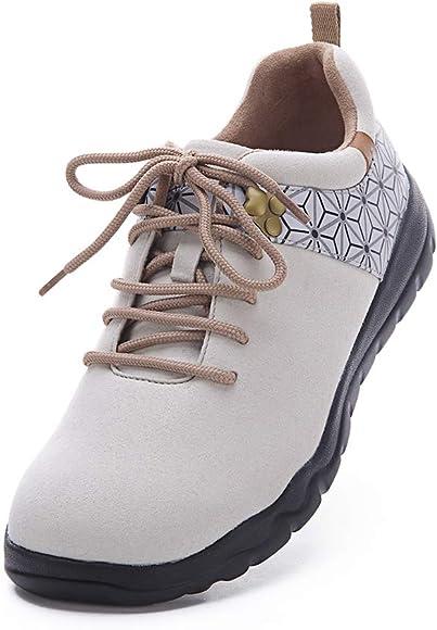 UIN Zapatilla Mujer Quebec marrón Zapatos de Cordones para Caminar con Zapatillas de Viaje 36: Amazon.es: Zapatos y complementos
