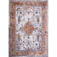 Home Dynamix Nicole Miller Parlin Aster Area Rug, 31x47, Modern Medallion Ivory/Rust
