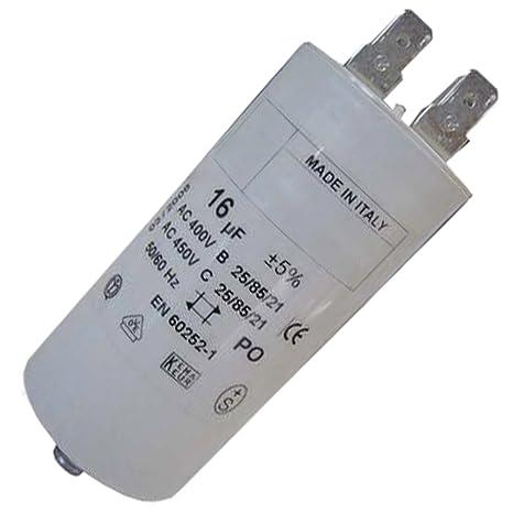 Condensador 16 MF 450 V - Lavadora - AEG, Arthur Martin ...