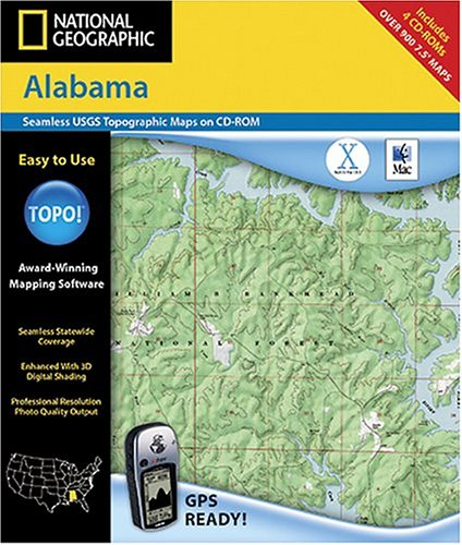 National Geographic TOPO! Map of Alabama (Mac)