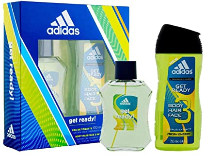 ADIDAS GET READY! ESTUCHE COLONIA HOMBRE EAU 100 ML + BODY HAIR FACE 3 IN