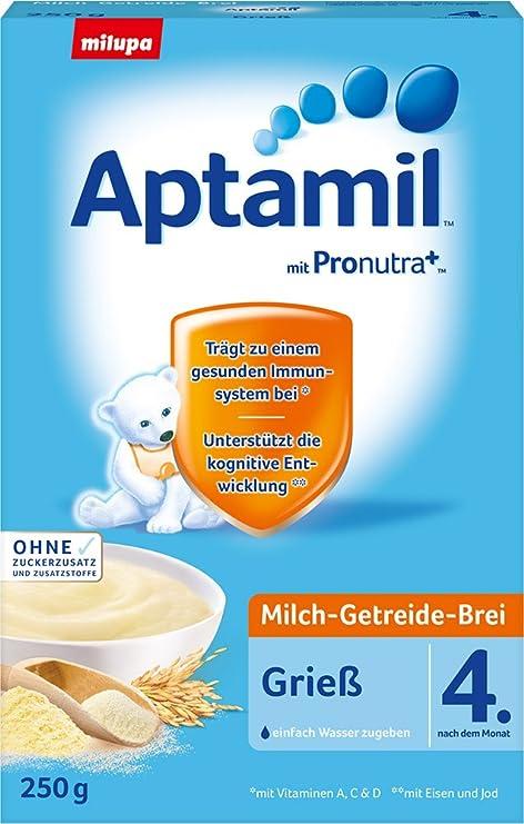 leche Aptamil cereales papilla de sémola - desde 4.Monat, 250g