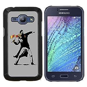 "For Samsung Galaxy J1 J100 , S-type Street Art Rebel"" - Arte & diseño plástico duro Fundas Cover Cubre Hard Case Cover"