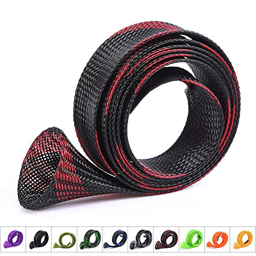 - ZHENDUO OUTDOOR 10Pcs/Set Rod Sock Fishing Rod Sleeve Rod Cover Braided Mesh Rod Protector Pole Gloves Fishing Tools for Casting Sea Fishing Rod