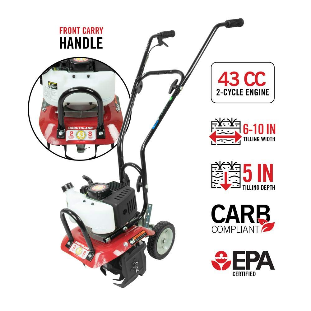 10 in. 43cc Gas 2-Cycle Cultivator with CARB Compliant