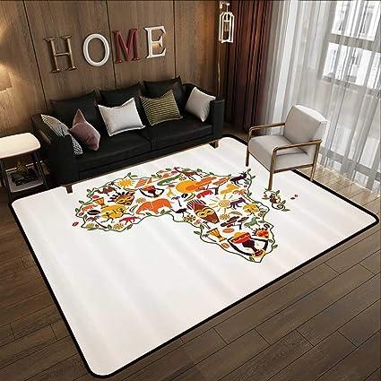 Amazon.com: Kids Floor mats,African Decorations, Africa ...