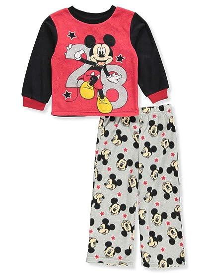 ec9d25030 Amazon.com  Disney Boys  Mickey Mouse 2-Piece Fleece Pajama Set ...