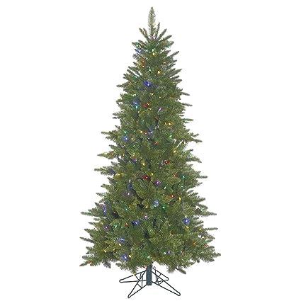 Amazoncom Vickerman Slim Durango Artificial Christmas Tree With