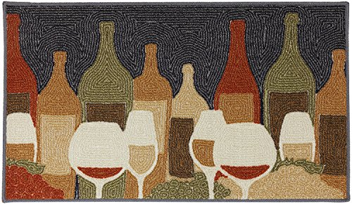 Mohawk Home Soho Wine Play Printed Rug, 1'8x2'10, Multi (Multi Soho Print)