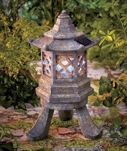 Delicieux SOLAR PAGODA GARDEN STATUE SCULPTURE LIGHT Lantern Lamp Asian Rustic Zen  Tower