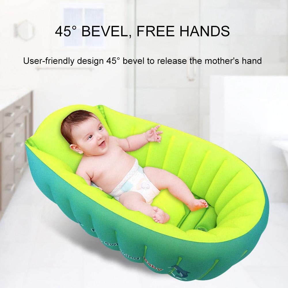 Womdee Bañera Hinchable para bebés, Viaje, portátil ...