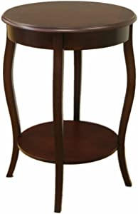 Frenchi Home Furnishing Round Accent Table, 18-Inch
