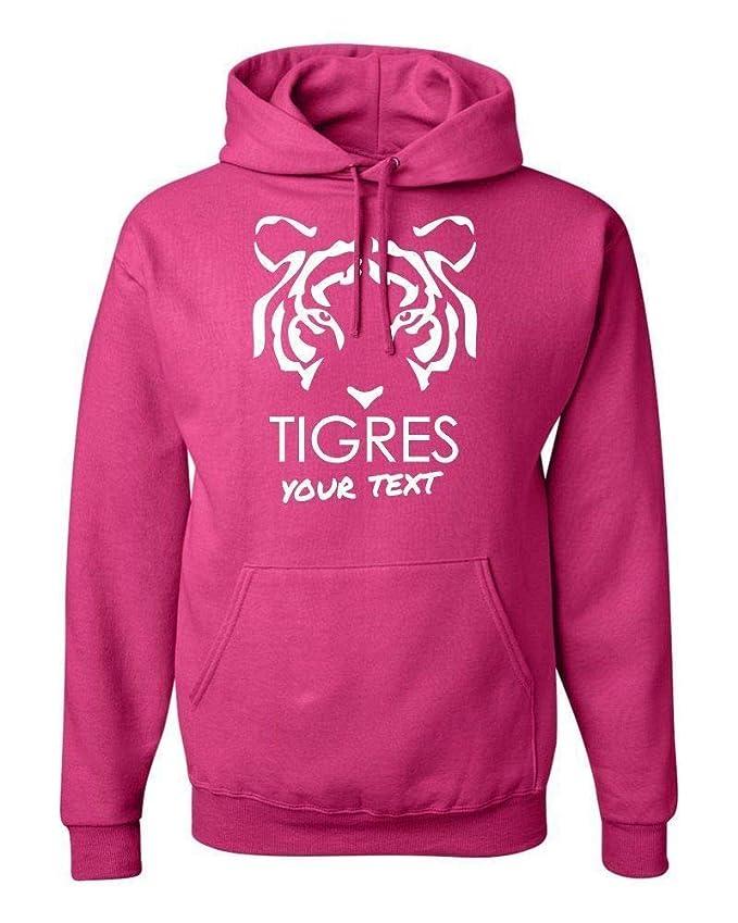 Amazon.com: Tigres UANL Mexico Hooded Hoodie Hoody Sudadera with Free Custom Text(Optional): Clothing