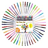 Tanmit 60 Color Gel Pens Art Set for Adults Coloring Book -...